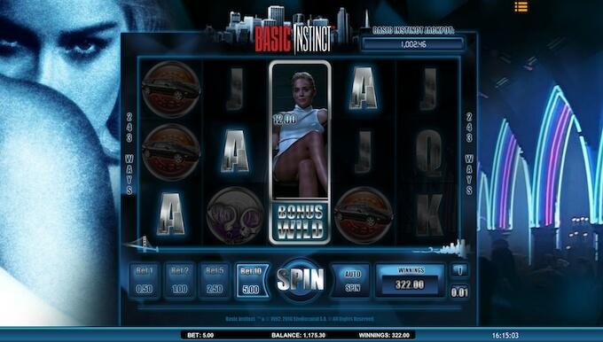 Slot Basic Instinct como jogar