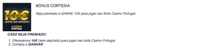 Bónus sem depósito grátis Casino Portugal