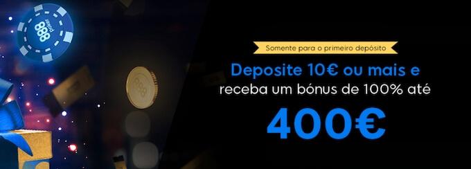 Bónus de boas-vindas para poker online em 888.pt
