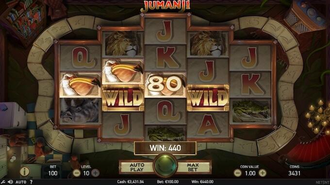 Jumanji e seus recursos: uma slot NetEnt