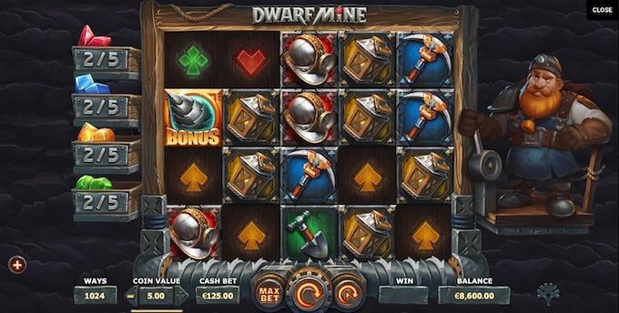 Yggdrasil slot Dwarf Mine