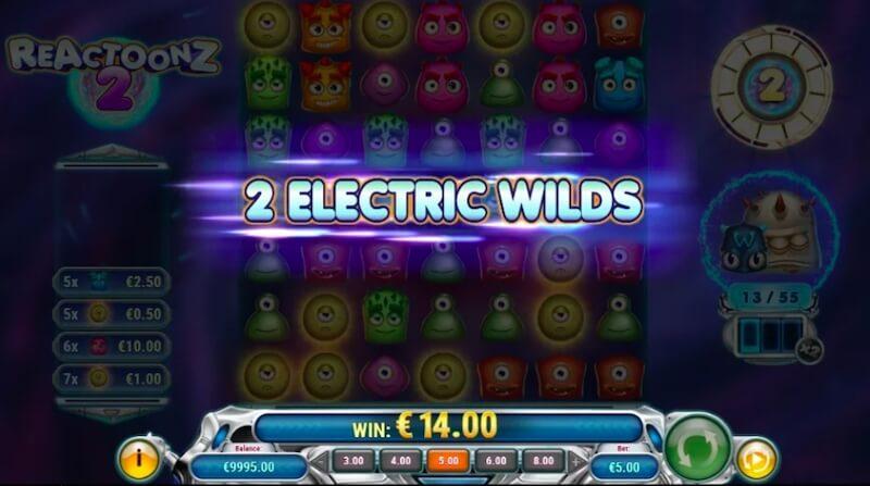 Eletric Wilds símbolos Reactoonz 2