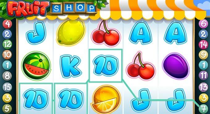Símbolos slot Fruit Shop