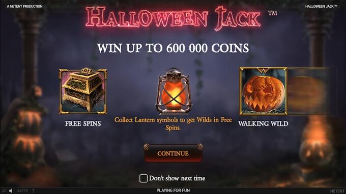 Recursos slot Halloween Jack