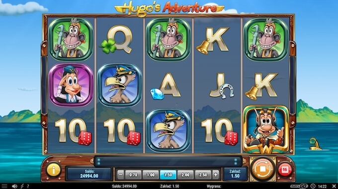 Símbolos slot Hugo's Adventure