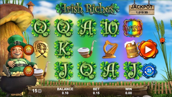 Irish Riches slot 888 Gaming
