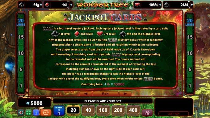 Jackpots de Wonder Tree