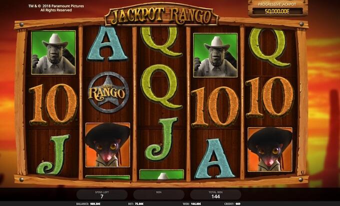 Jackpot Rango slot iSoftBet
