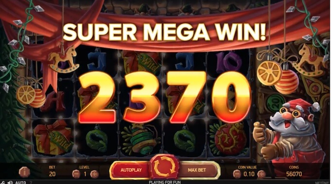 Big Win na slot Jingle Spin