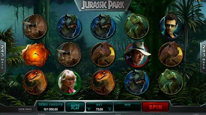 Símbolos da slot Jurassic Park