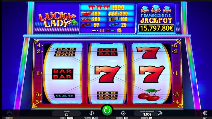 Leia análise completa da slot Lucky Lady por iSoftBet