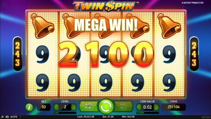 Twin Spin mega win