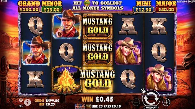 Mustang Gold slot Pragmatic Play