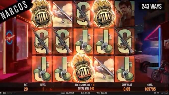 Jogue slot Narcos