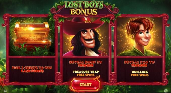 Lost Boys Loot recurso bónus do jogo