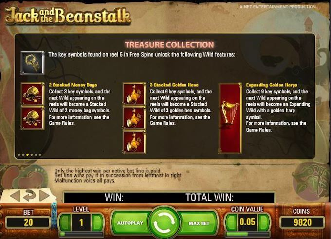 Recurso treasure collection slot Jack and the beanstalk
