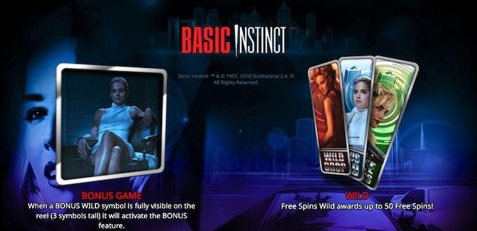 Recursos slot Basic Instinct