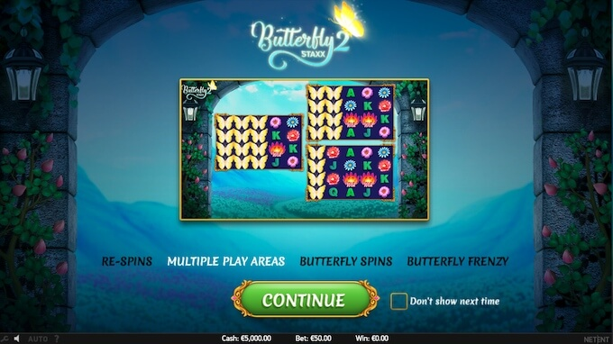 Recursos slot Butterfly Staxx 2