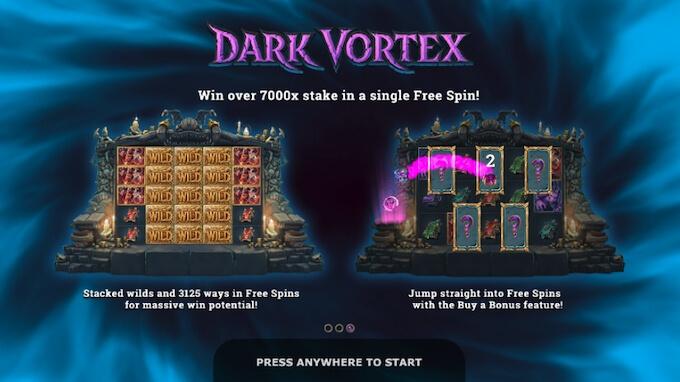 Recursos slot Dark Vortex
