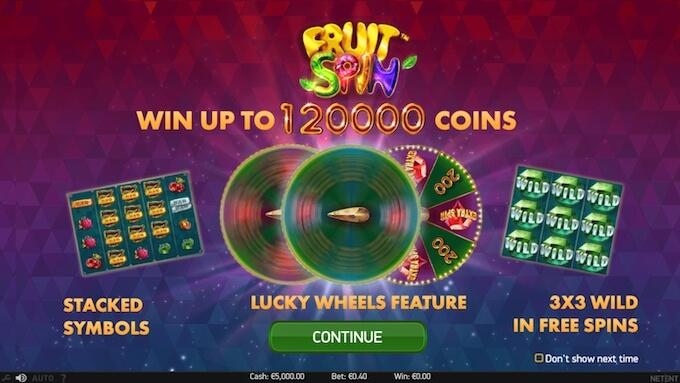 Fruit Spin slot NetEnt jogar