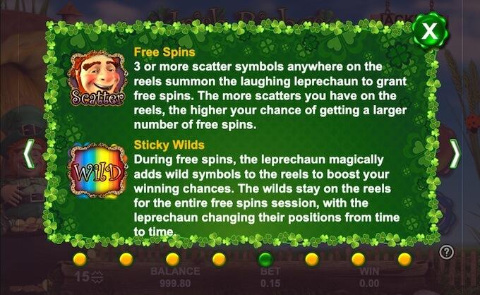Recursos slot Irish Riches