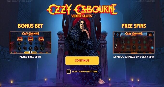Recursos slot Ozzy Osbourne