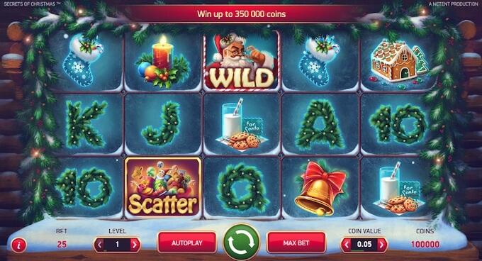 Símbolos da slot Secrets of Christmas