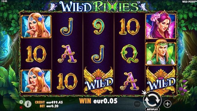 Símbolos slot Wild Pixies