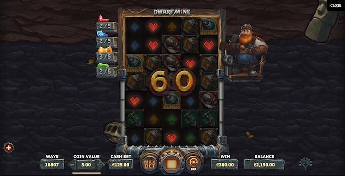 Dwarf Mine expanding Reels
