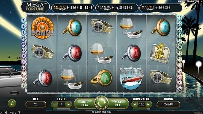 Slot Mega Fortune NetEnt