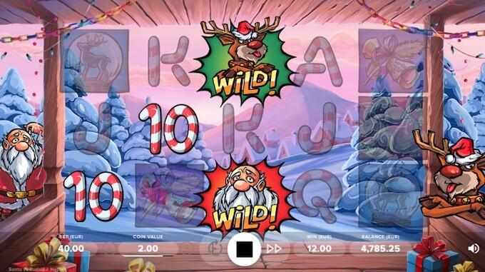 Santa vs Rudolf slot lançamento NetEnt