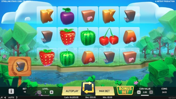 Slot Strolling Staxx Cubic Fruits NetEnt