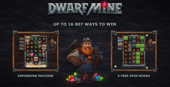Dwarf Mine slot desenvolvida por Yggdrasil