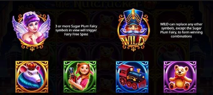 The Nutcracker símbolos da slot