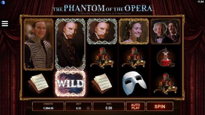 The Phantom of the Opera análise de slot