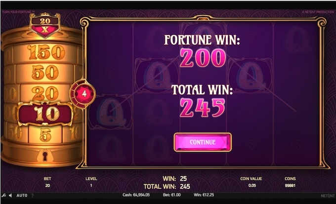 Re-spins slot Turn Your Fortune