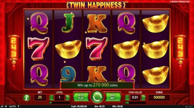 Twin Happiness jogo de slot NetEnt