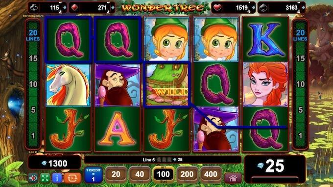 Wonder Tree símbolos da slot
